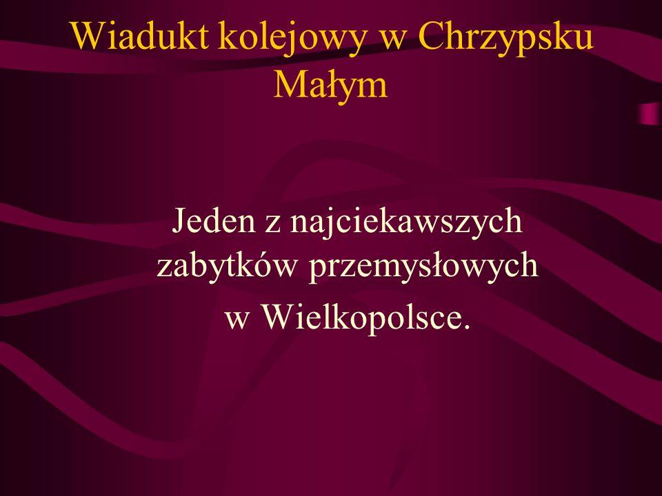 Wiadukt kolejowy w Chrzypsku Małym Jeden z najciekawszych zabytków przemysłowych w Wielkopolsce.