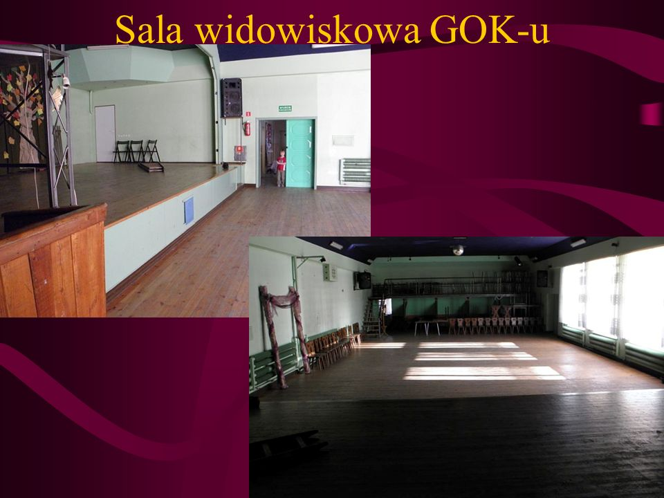 Sala widowiskowa GOK-u