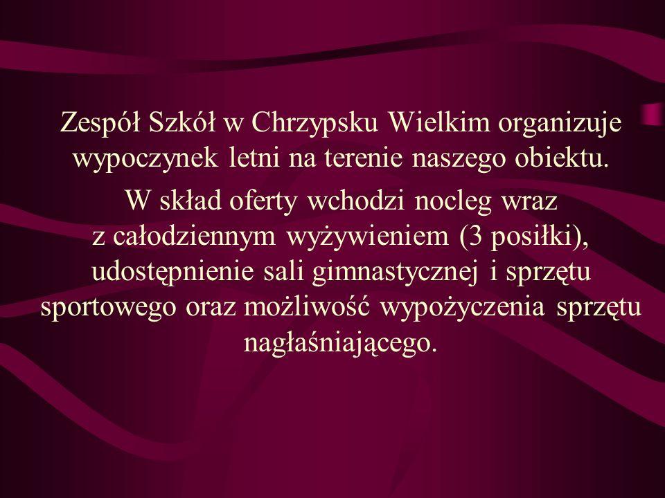 KONTAKT TEL: 61-29-51-235 FAX: 61-29-51-472 E-MAIL: zs_chrzypsko@wp.pl
