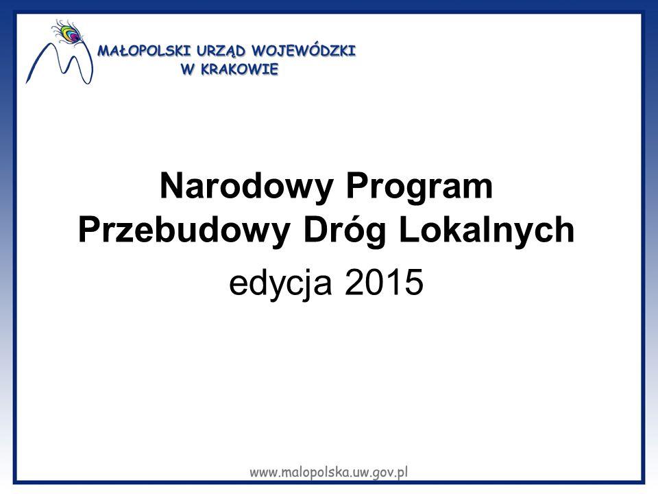 Narodowy Program Przebudowy Dróg Lokalnych edycja 2015