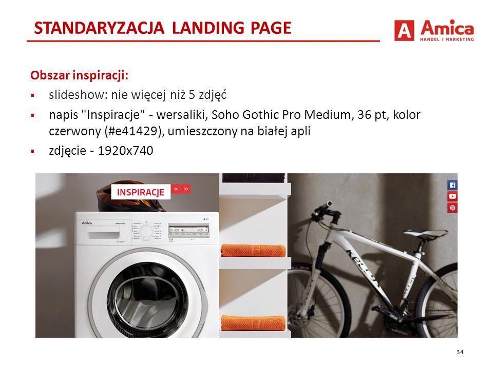 Obszar inspiracji:  slideshow: nie więcej niż 5 zdjęć  napis Inspiracje - wersaliki, Soho Gothic Pro Medium, 36 pt, kolor czerwony (#e41429), umieszczony na białej apli  zdjęcie - 1920x740 STANDARYZACJA LANDING PAGE 34