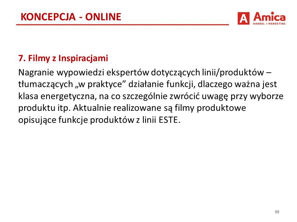 """7. Filmy z Inspiracjami Nagranie wypowiedzi ekspertów dotyczących linii/produktów – tłumaczących """"w praktyce"""" działanie funkcji, dlaczego ważna jest k"""