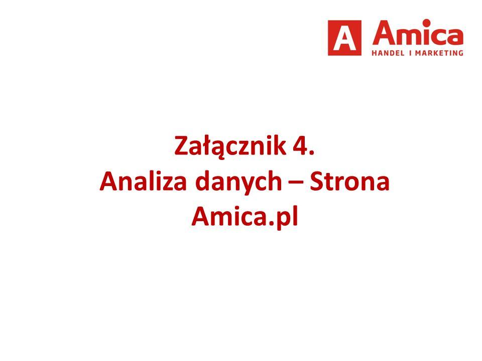 Załącznik 4. Analiza danych – Strona Amica.pl