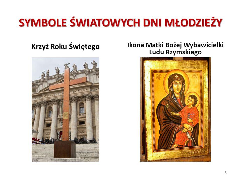 SYMBOLE ŚWIATOWYCH DNI MŁODZIEŻY Krzyż Roku Świętego Ikona Matki Bożej Wybawicielki Ludu Rzymskiego 3