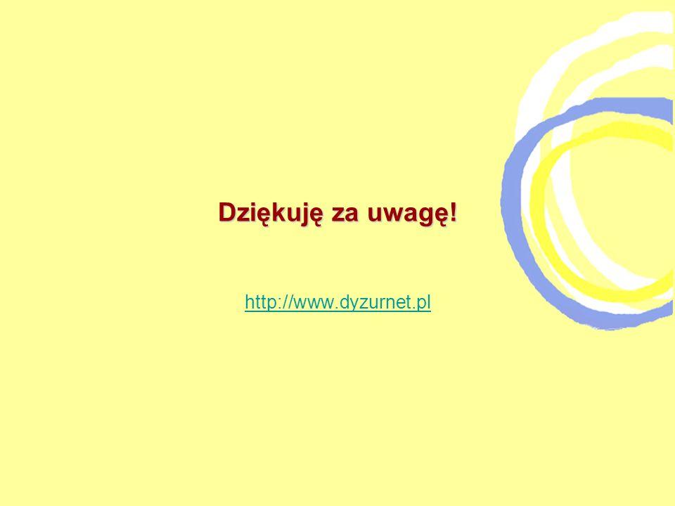 Dziękuję za uwagę! http://www.dyzurnet.pl