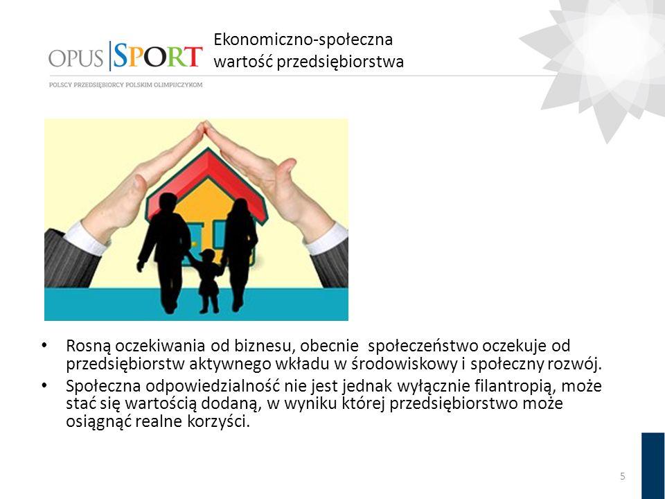 Ekonomiczno-społeczna wartość przedsiębiorstwa 5 Rosną oczekiwania od biznesu, obecnie społeczeństwo oczekuje od przedsiębiorstw aktywnego wkładu w śr