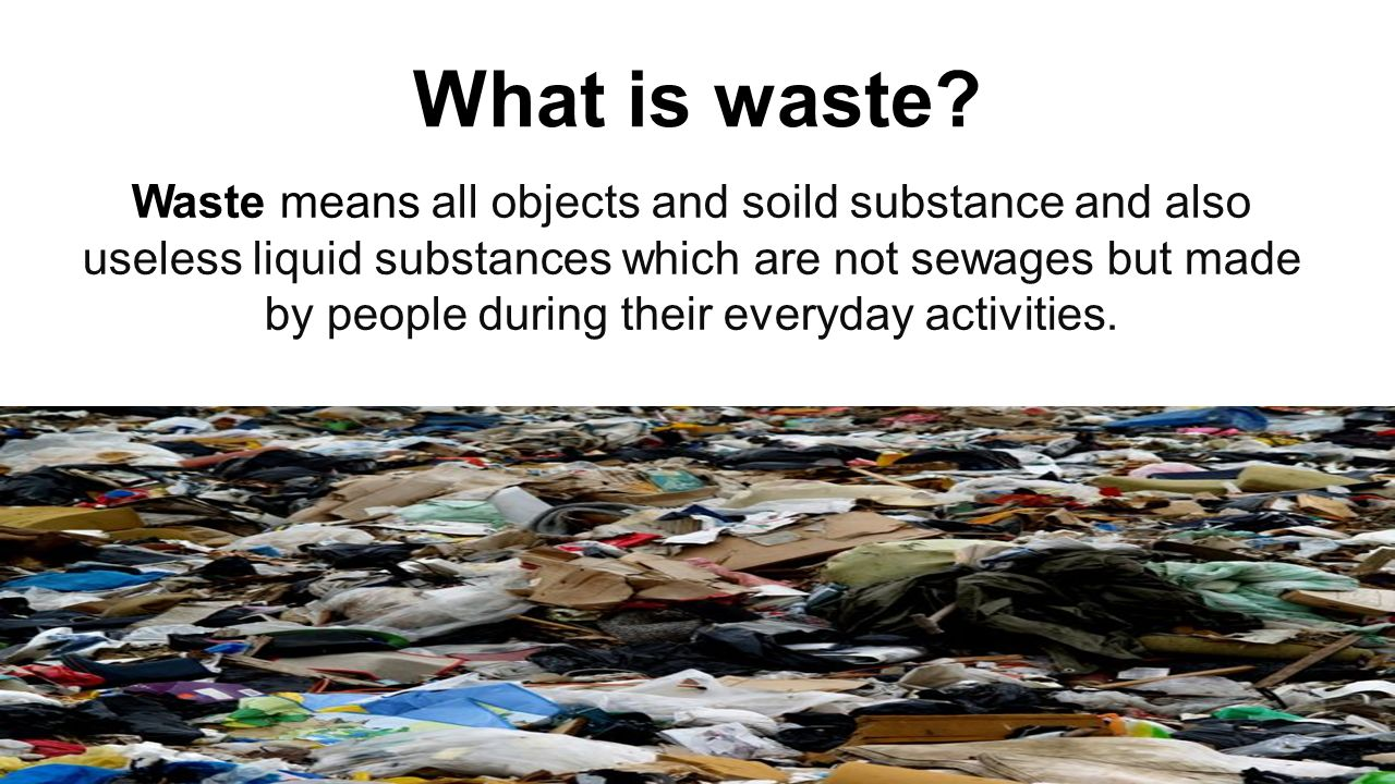 How rubbish affects economy?