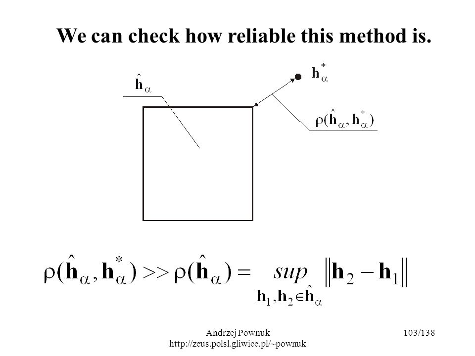 Andrzej Pownuk http://zeus.polsl.gliwice.pl/~pownuk 103/138 We can check how reliable this method is.