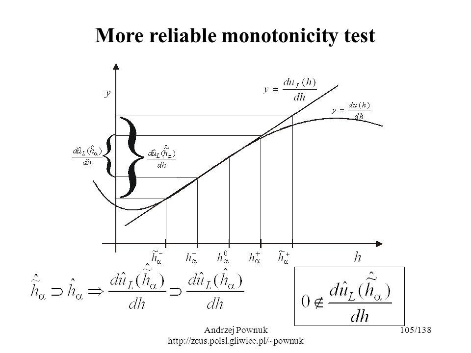 Andrzej Pownuk http://zeus.polsl.gliwice.pl/~pownuk 105/138 More reliable monotonicity test