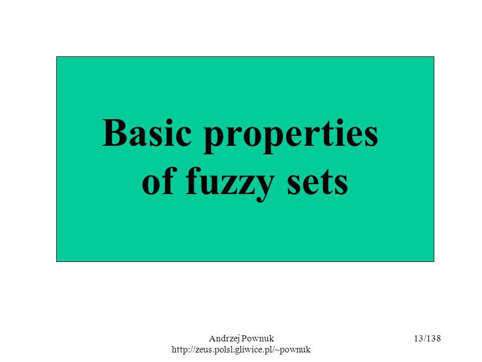 Andrzej Pownuk http://zeus.polsl.gliwice.pl/~pownuk 13/138 Basic properties of fuzzy sets