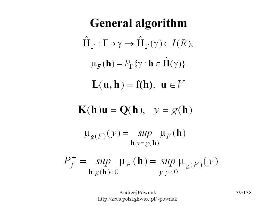 Andrzej Pownuk http://zeus.polsl.gliwice.pl/~pownuk 39/138 General algorithm