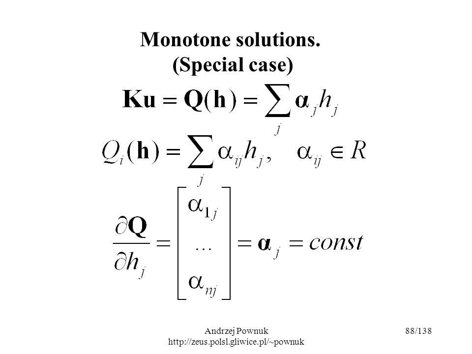 Andrzej Pownuk http://zeus.polsl.gliwice.pl/~pownuk 88/138 Monotone solutions. (Special case)