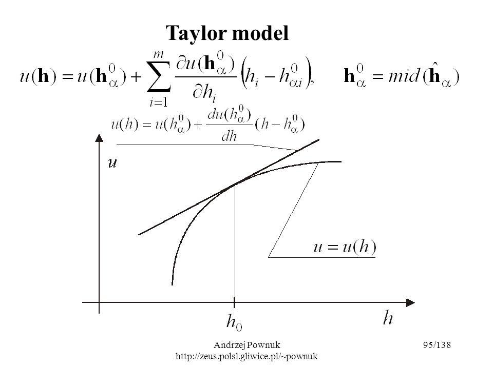 Andrzej Pownuk http://zeus.polsl.gliwice.pl/~pownuk 95/138 Taylor model
