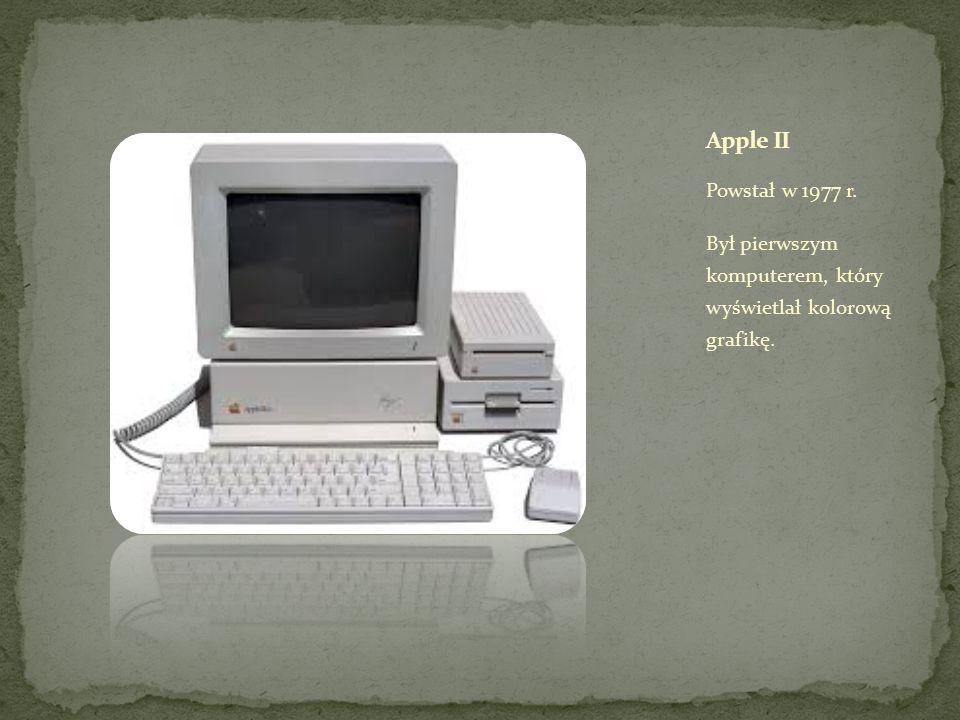 Powstał w 1977 r. Był pierwszym komputerem, który wyświetlał kolorową grafikę.