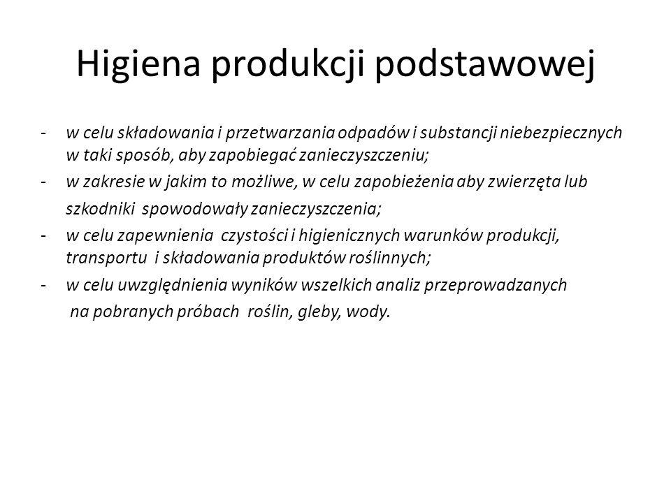 Higiena produkcji podstawowej Wytyczne opracowane przez Narodowy Instytut Zdrowia Publicznego – Państwowy Zakład Higieny dot.