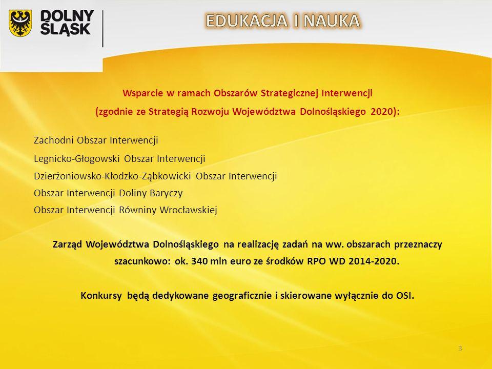 3 Wsparcie w ramach Obszarów Strategicznej Interwencji (zgodnie ze Strategią Rozwoju Województwa Dolnośląskiego 2020): Zachodni Obszar Interwencji Leg