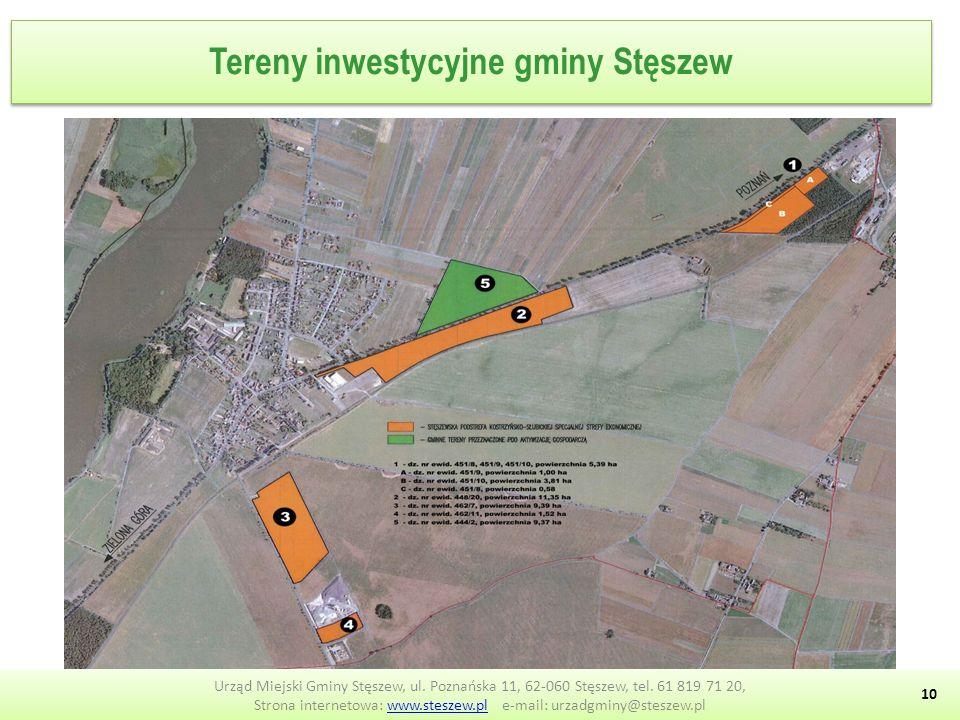 Tereny inwestycyjne gminy Stęszew 10 Urząd Miejski Gminy Stęszew, ul.