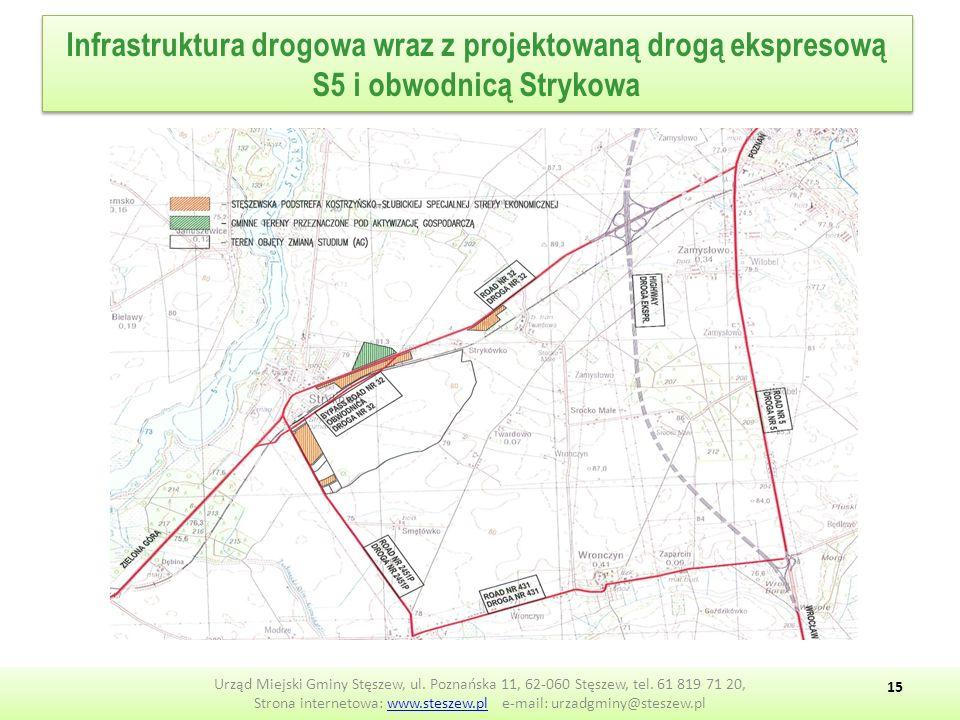 Infrastruktura drogowa wraz z projektowaną drogą ekspresową S5 i obwodnicą Strykowa Urząd Miejski Gminy Stęszew, ul.