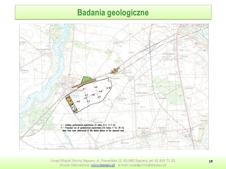 Badania geologiczne Urząd Miejski Gminy Stęszew, ul.