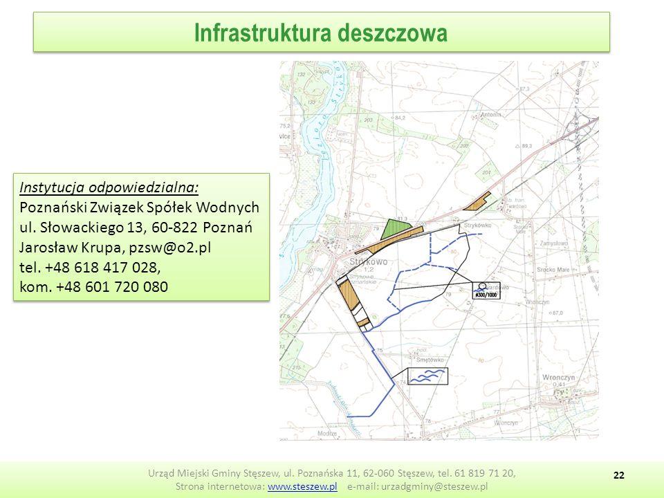 Infrastruktura deszczowa Urząd Miejski Gminy Stęszew, ul.