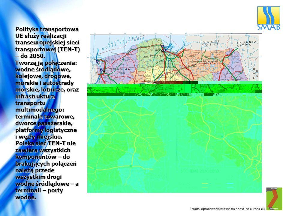 Źródło: opracowanie własne na podst. ec.europa.eu Polityka transportowa UE służy realizacji transeuropejskiej sieci transportowej (TEN-T) – do 2050. T