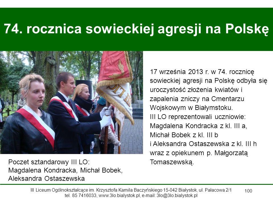 100 74.rocznica sowieckiej agresji na Polskę 17 września 2013 r.