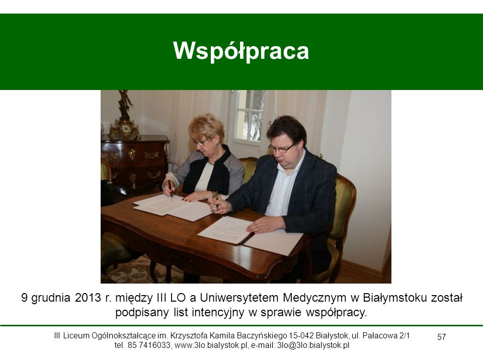 57 Współpraca 9 grudnia 2013 r.