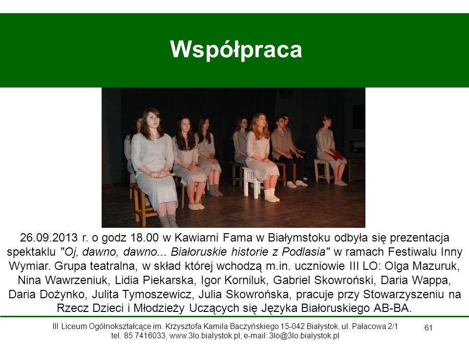 61 Współpraca 26.09.2013 r.