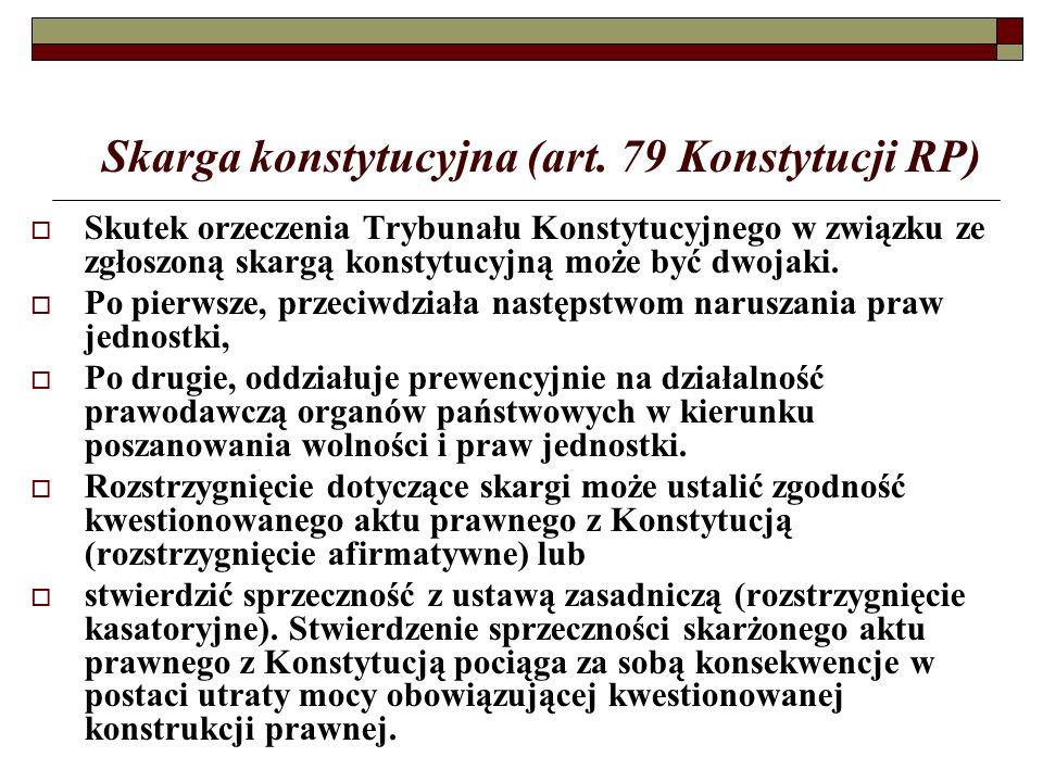 Skarga konstytucyjna (art.