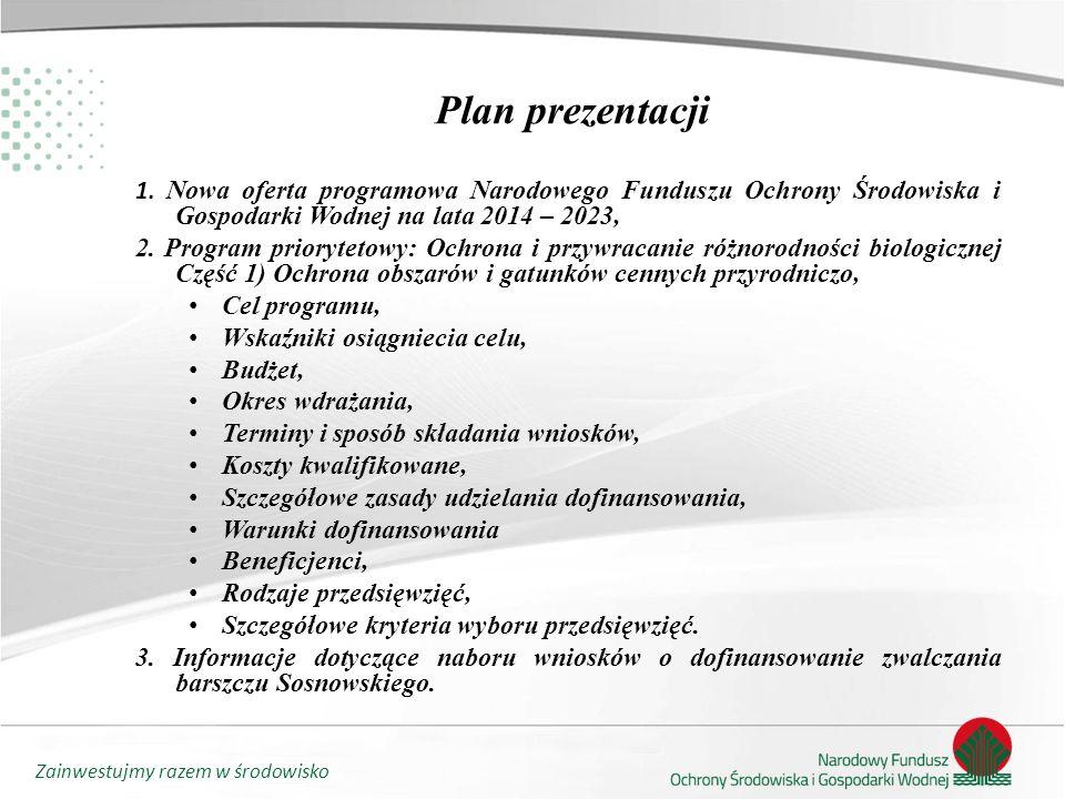 Zainwestujmy razem w środowisko Plan prezentacji 1.