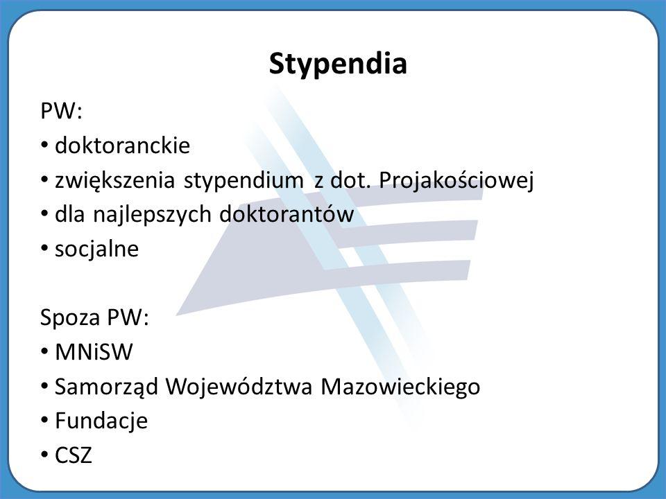 PW: doktoranckie zwiększenia stypendium z dot.