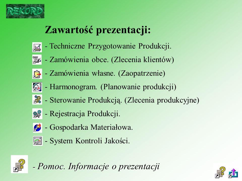 Zawartość prezentacji: - Techniczne Przygotowanie Produkcji.