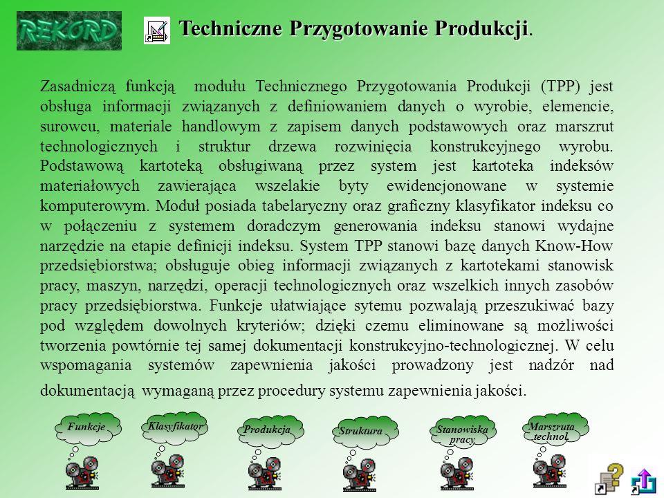 Techniczne Przygotowanie Produkcji Techniczne Przygotowanie Produkcji.