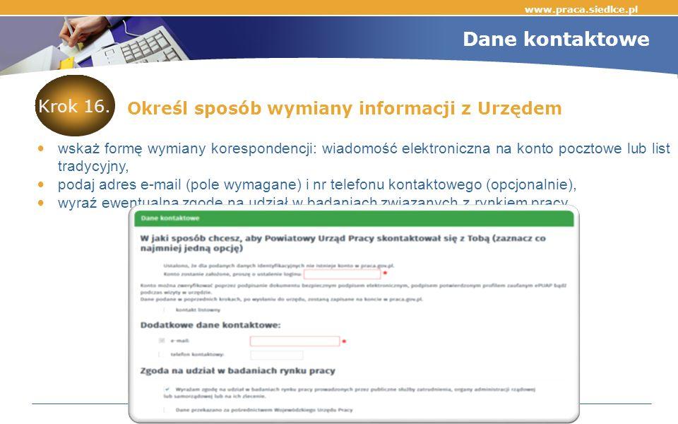 www.praca.siedlce.pl Krok 16.