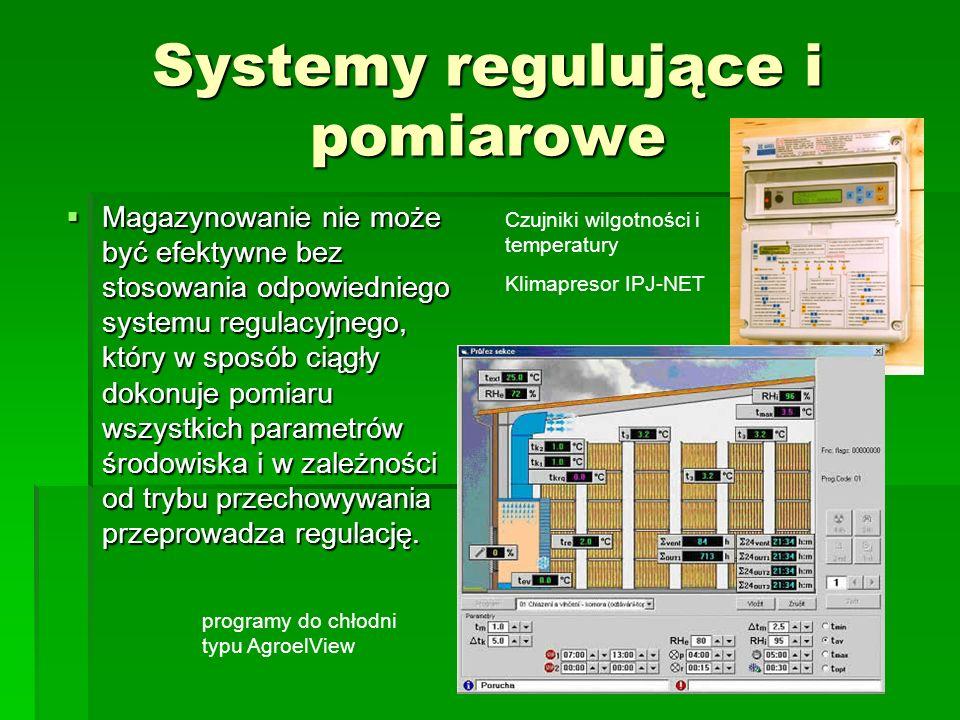 Systemy regulujące i pomiarowe  Magazynowanie nie może być efektywne bez stosowania odpowiedniego systemu regulacyjnego, który w sposób ciągły dokonu