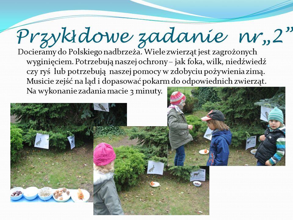 """Przyk ł dowe zadanie nr""""2"""" Docieramy do Polskiego nadbrzeża. Wiele zwierząt jest zagrożonych wyginięciem. Potrzebują naszej ochrony – jak foka, wilk,"""
