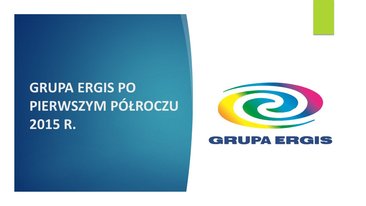 DZIĘKUJEMY www.ergis.eu