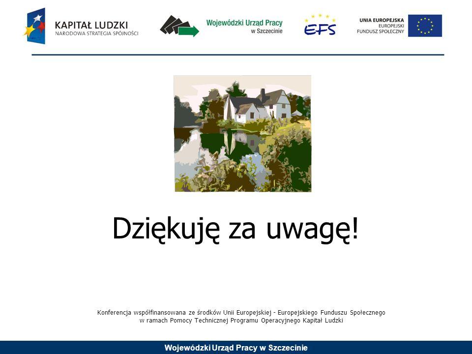 Wojewódzki Urząd Pracy w Szczecinie Dziękuję za uwagę.