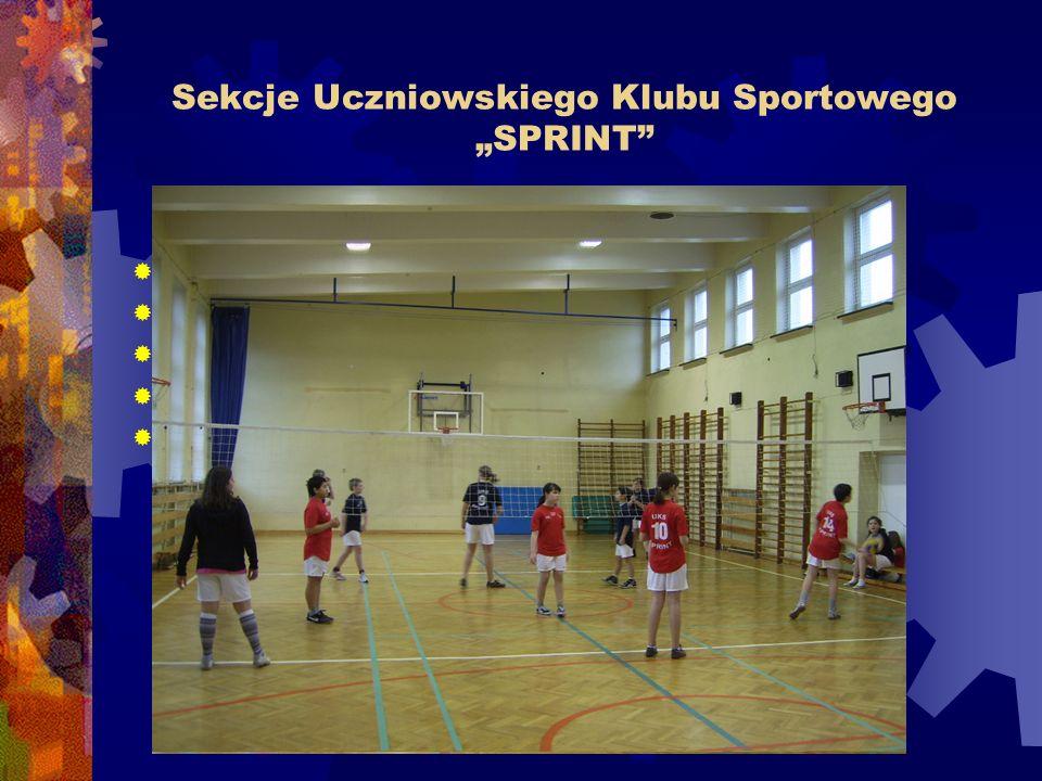 """Sekcje Uczniowskiego Klubu Sportowego """"SPRINT  rekreacyjna kl."""