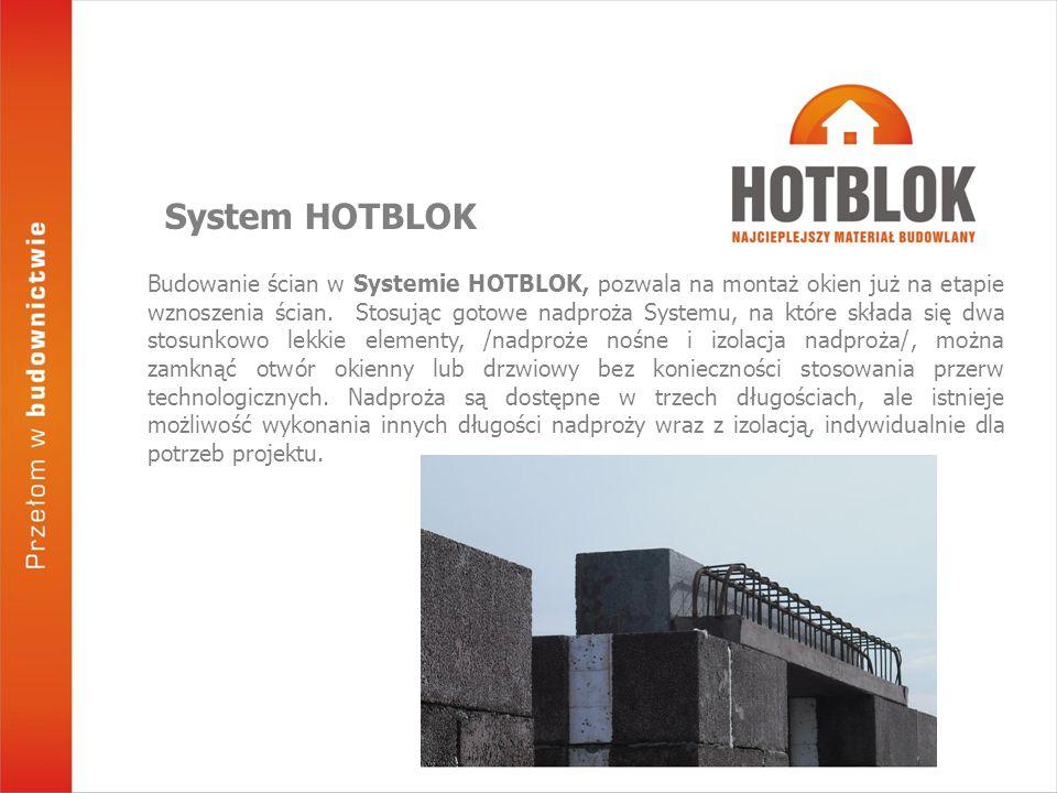 Budowanie ścian w Systemie HOTBLOK, pozwala na montaż okien już na etapie wznoszenia ścian. Stosując gotowe nadproża Systemu, na które składa się dwa