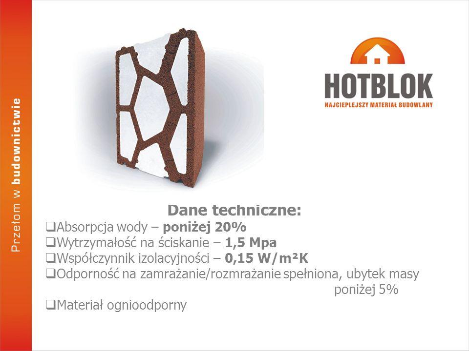 Dostępne w ofercie elementy Systemu HOTBLOK, pozwalają na dowolne kształtowanie ścian zewnętrznych, również budowę tzw.