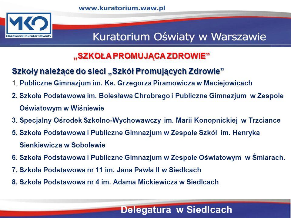 """""""SZKOŁA PROMUJĄCA ZDROWIE Szkoły należące do sieci """"Szkół Promujących Zdrowie ."""
