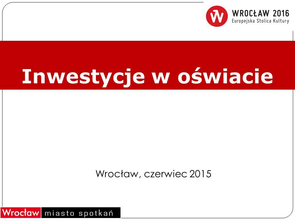 Inwestycje w oświacie Wrocław, czerwiec 2015