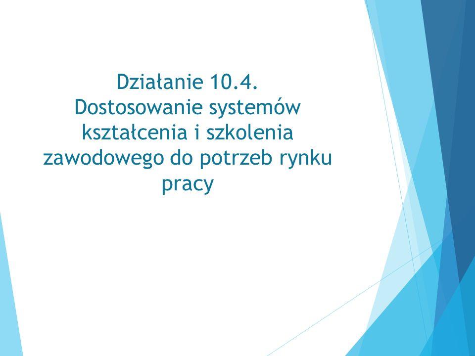 Działanie 10.4. Dostosowanie systemów kształcenia i szkolenia zawodowego do potrzeb rynku pracy