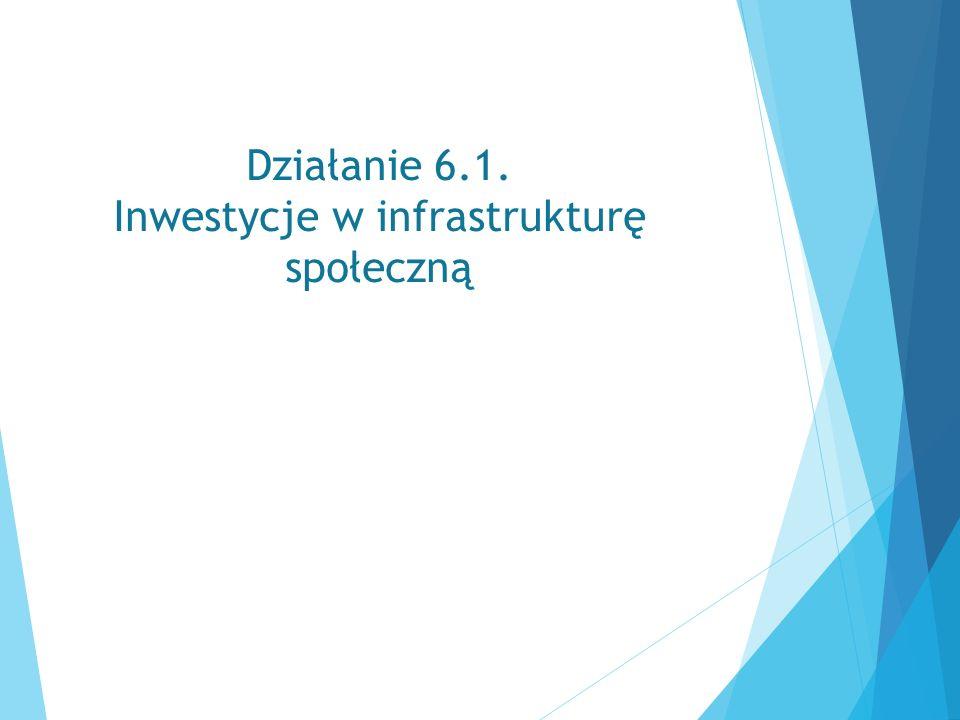 Działanie 6.1. Inwestycje w infrastrukturę społeczną