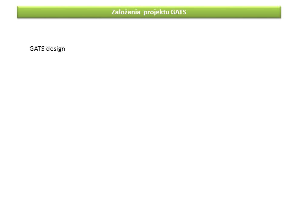 Założenia projektu GATS GATS design