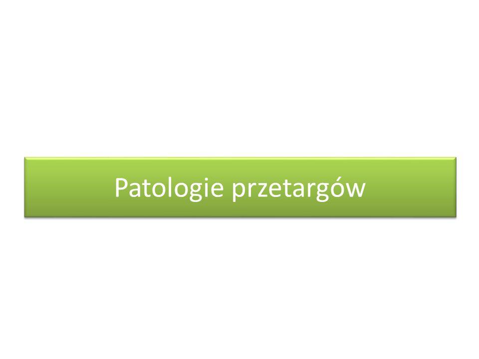 Patologie przetargów