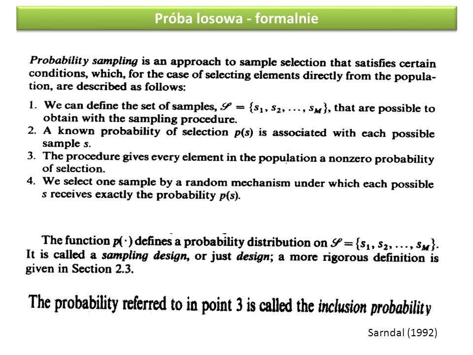 Sarndal (1992) Próba losowa - formalnie