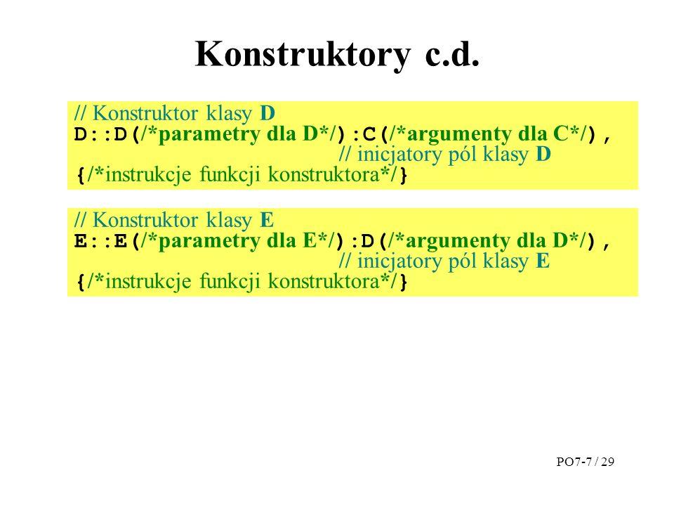 Konstruktory c.d.
