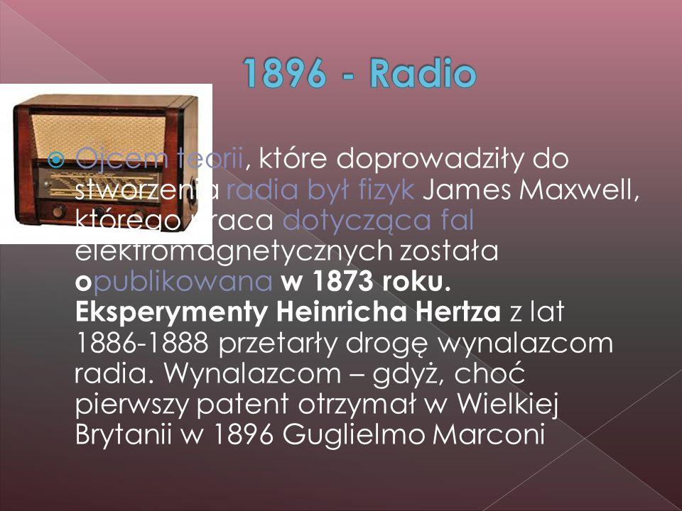  Ojcem teorii, które doprowadziły do stworzenia radia był fizyk James Maxwell, którego praca dotycząca fal elektromagnetycznych została o publikowana